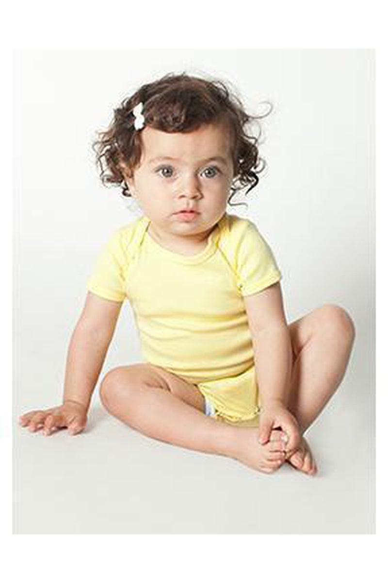 American Apparel 4001W: Infant Baby Rib Short-Sleeve One-Piece-Infants | Toddlers-Bulkthreads.com, Wholesale T-Shirts and Tanks