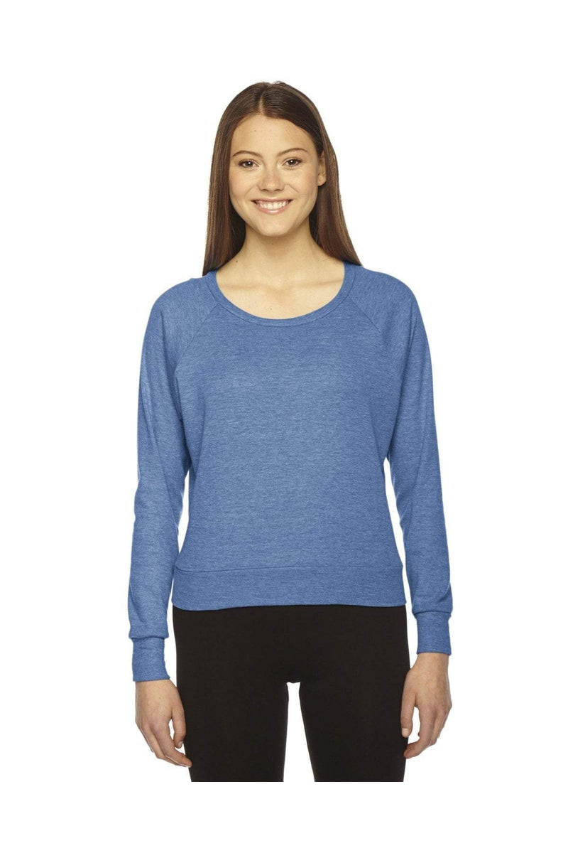 American Apparel BR394W: Ladies' Triblend Lightweight Raglan Pullover-American Apparel-Bulkthreads.com