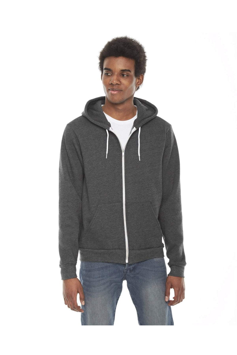 American Apparel F497: Unisex Flex Fleece USA Made Zip Hoodie-Sweatshirts-Bulkthreads.com, Wholesale T-Shirts and Tanks