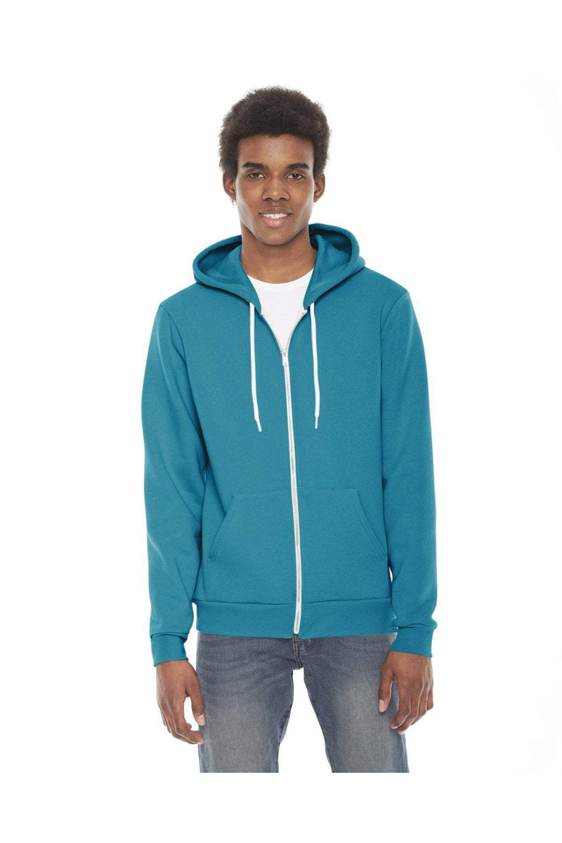 American Apparel F497W: Unisex Flex Fleece Zip Hoodie, Basic Colors-Sweatshirts-Bulkthreads.com, Wholesale T-Shirts and Tanks