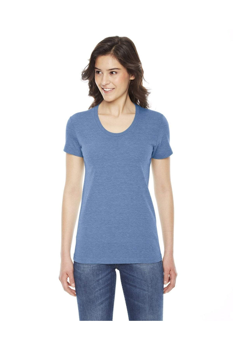 American Apparel TR301W: Ladies' Triblend Short-Sleeve Track T-Shirt-American Apparel-Bulkthreads.com