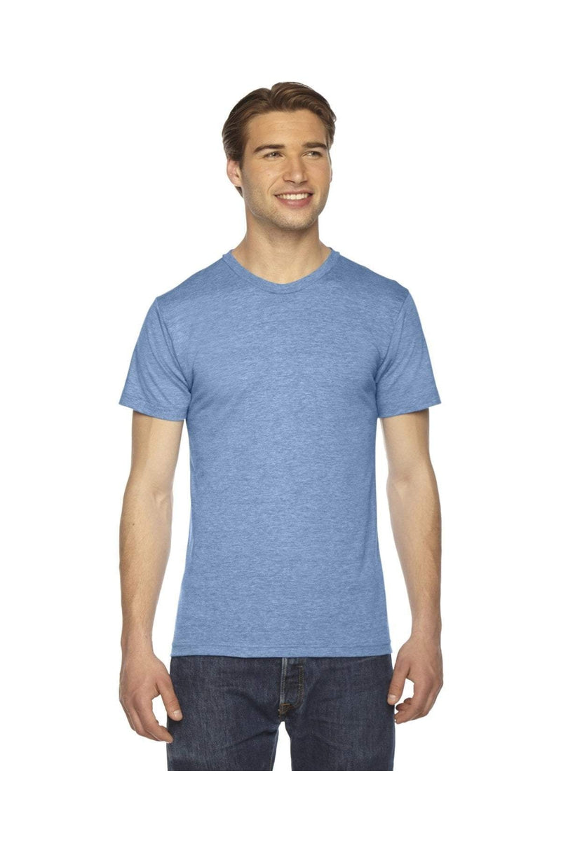 American Apparel TR401W: Unisex Triblend Short-Sleeve Track T-Shirt-T-Shirts-Bulkthreads.com, Wholesale T-Shirts and Tanks