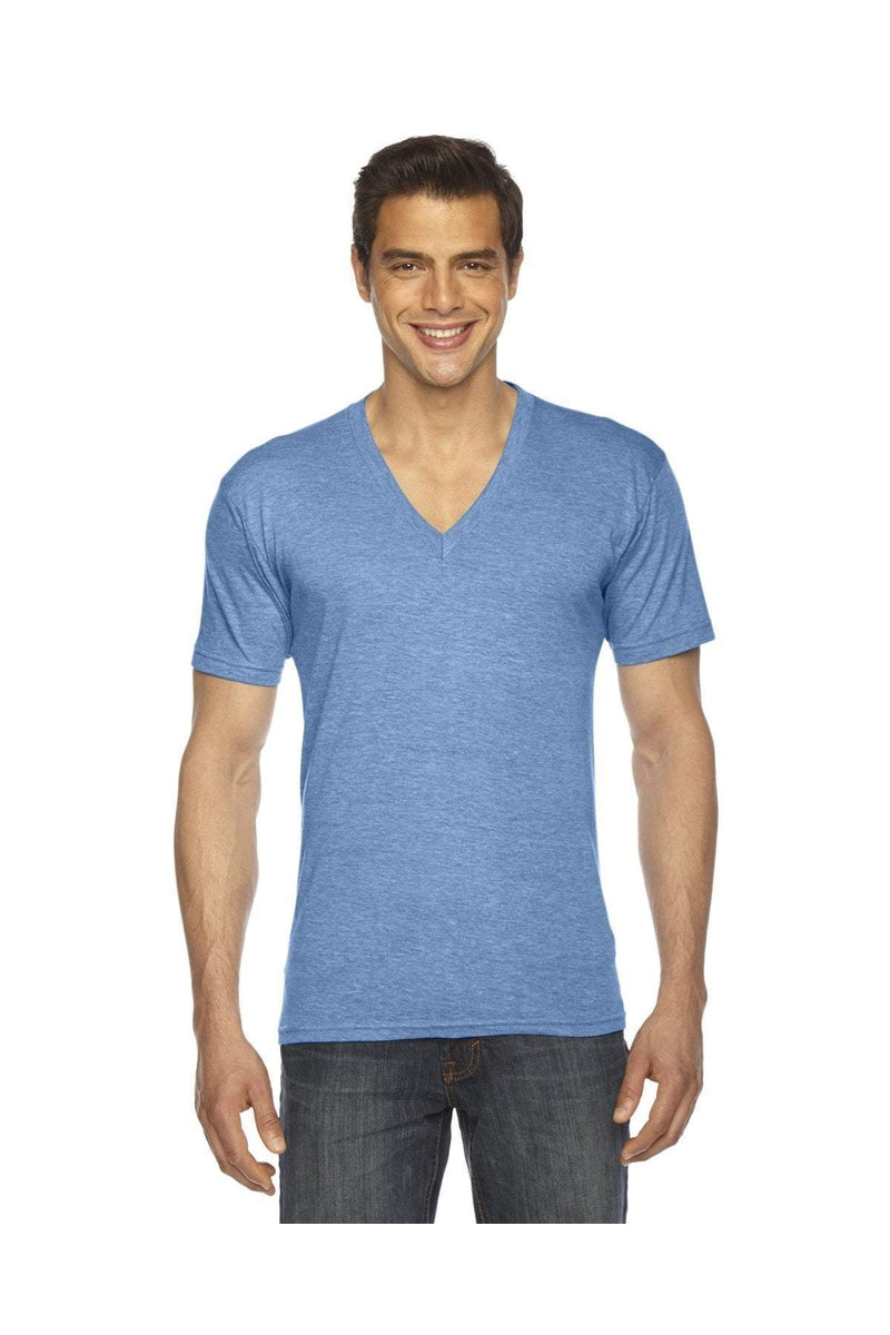 American Apparel TR461W: Unisex Triblend Short-Sleeve V-Neck-American Apparel-Bulkthreads.com