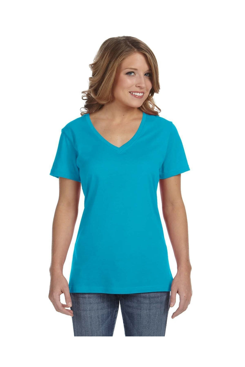 Anvil 392A: Ladies' Featherweight V-Neck T-Shirt-T-Shirts-Bulkthreads.com, Wholesale T-Shirts and Tanks