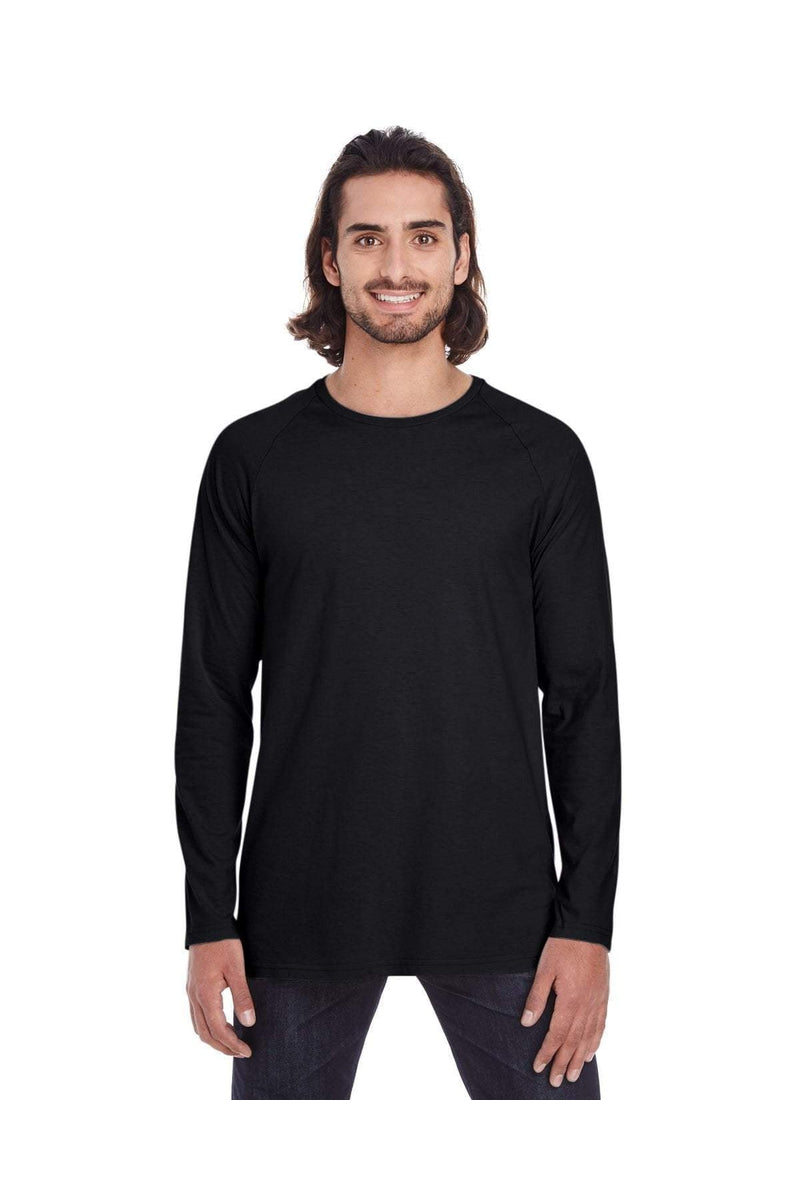 Anvil 5628: Adult Lightweight Long & Lean Raglan Long-Sleeve T-Shirt-T-Shirts-Bulkthreads.com, Wholesale T-Shirts and Tanks