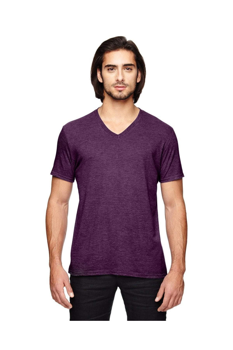 Anvil 6752: Adult Triblend V-Neck T-Shirt-T-Shirts-Bulkthreads.com, Wholesale T-Shirts and Tanks
