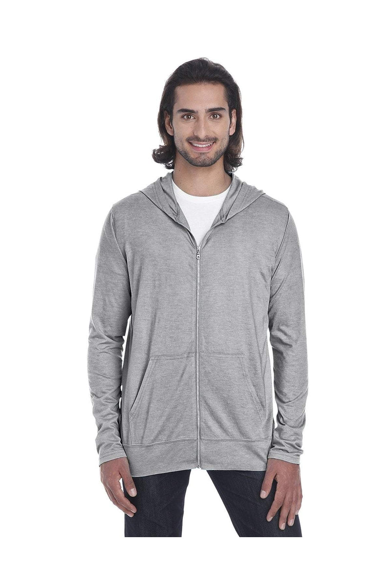 Anvil 6759: Adult Triblend Full-Zip Jacket-T-Shirts-Bulkthreads.com, Wholesale T-Shirts and Tanks