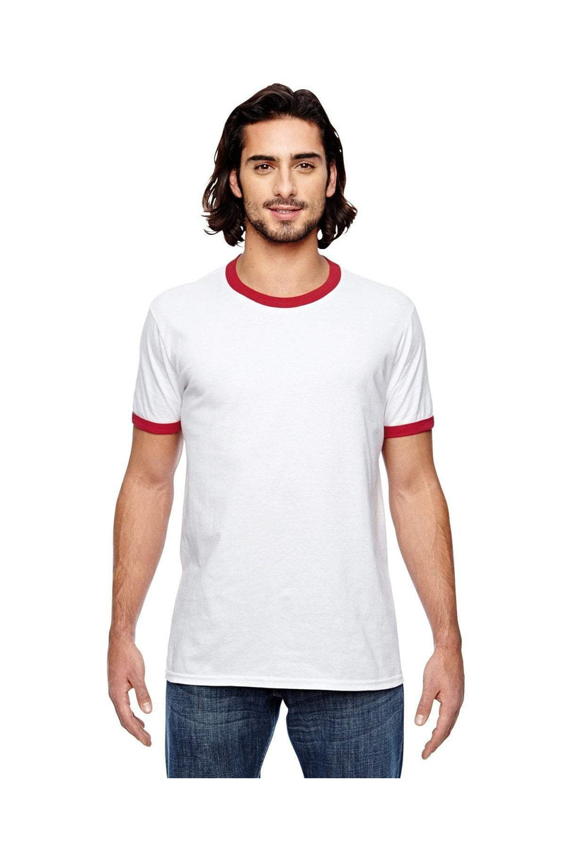 Anvil 988AN: Adult Lightweight Ringer T-Shirt-T-Shirts-Bulkthreads.com, Wholesale T-Shirts and Tanks