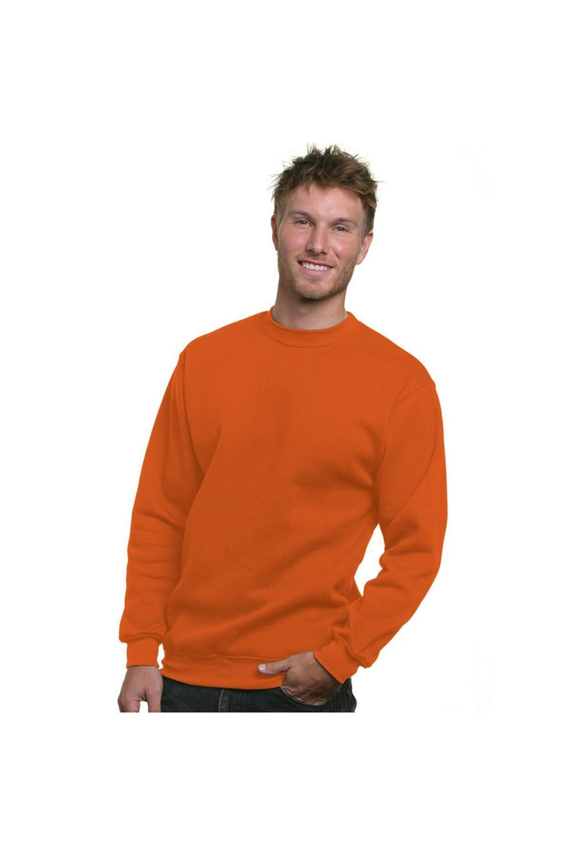 Bayside BA1102: Adult 9.5 oz., 80/20 Heavyweight Crewneck Sweatshirt, Basic Colors-Sweatshirts-Bulkthreads.com, Wholesale T-Shirts and Tanks