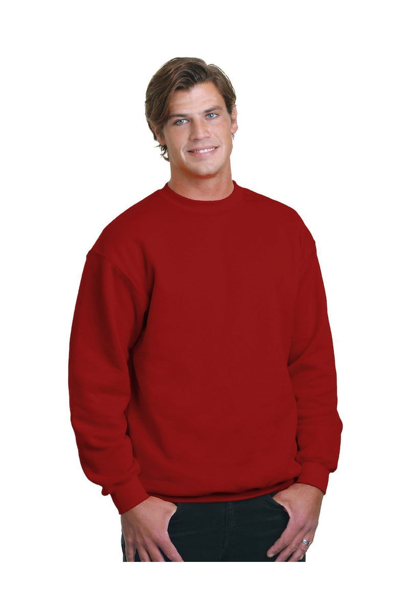 Bayside BA1102: Adult 9.5 oz., 80/20 Heavyweight Crewneck Sweatshirt-Sweatshirts-Bulkthreads.com, Wholesale T-Shirts and Tanks