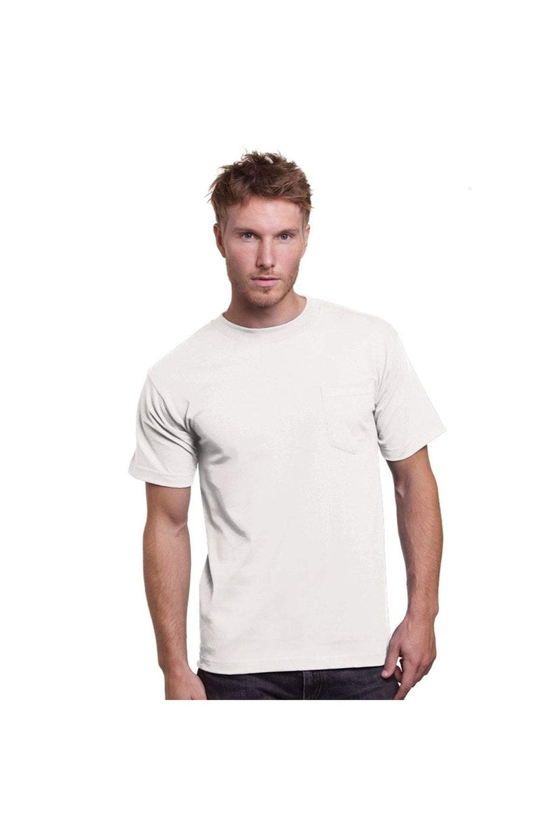 Bayside BA3015: Adult 6.1 oz., Cotton Pocket T-Shirt-T-Shirts-Bulkthreads.com, Wholesale T-Shirts and Tanks