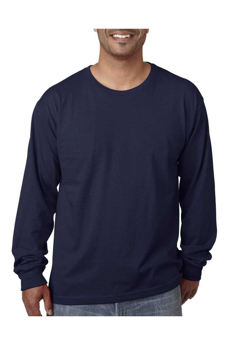 Bayside BA5060: Adult Long-Sleeve T-Shirt-T-Shirts-Bulkthreads.com, Wholesale T-Shirts and Tanks