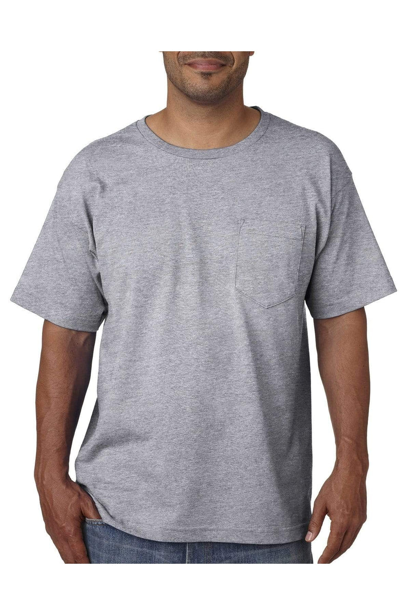 Bayside BA5070: Adult Short-Sleeve T-Shirt with Pocket-T-Shirts-Bulkthreads.com, Wholesale T-Shirts and Tanks