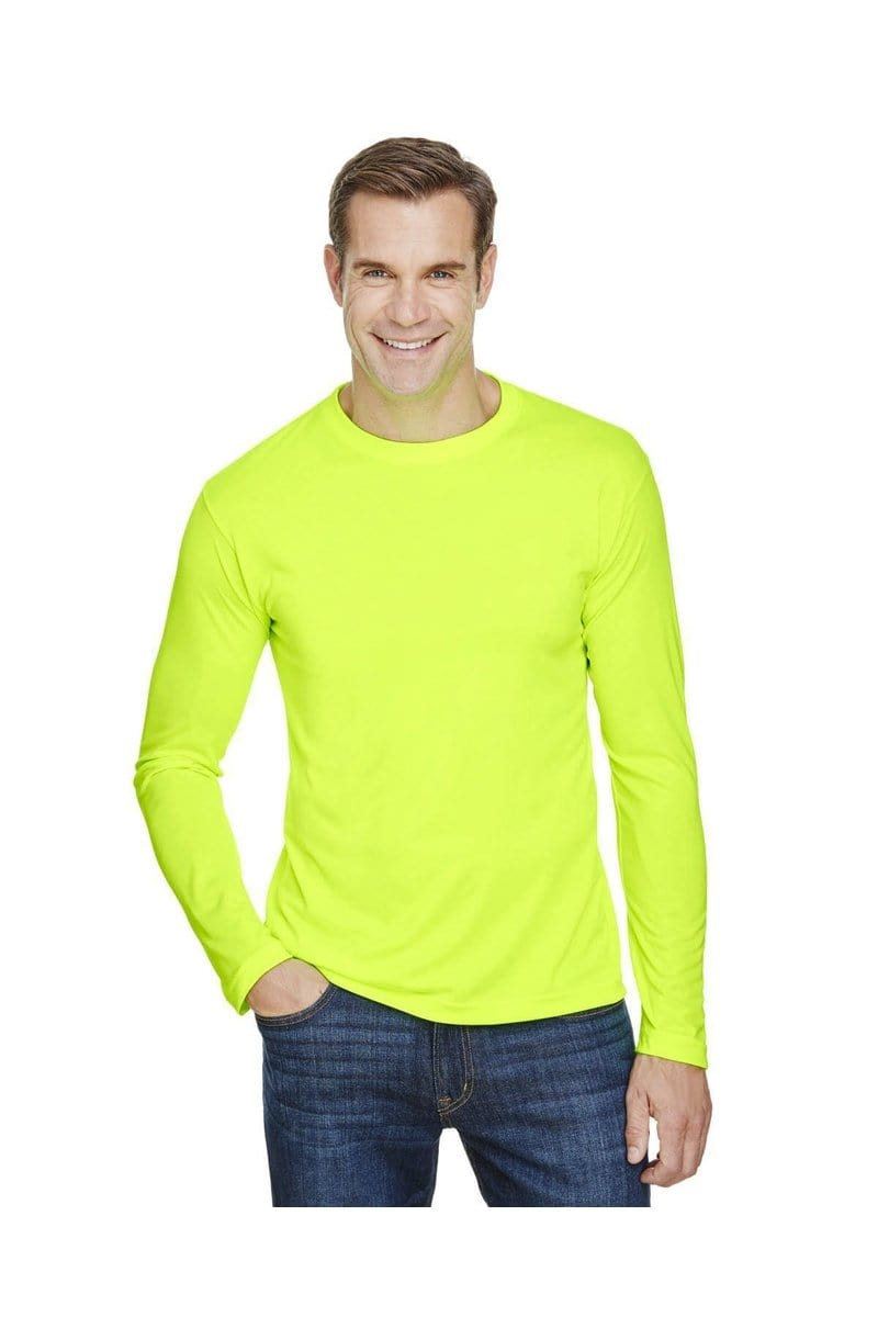 Bayside BA5360: Unisex 4.5 oz., 100% Polyester Performance Long-Sleeve T-Shirt-T-Shirts-Bulkthreads.com, Wholesale T-Shirts and Tanks