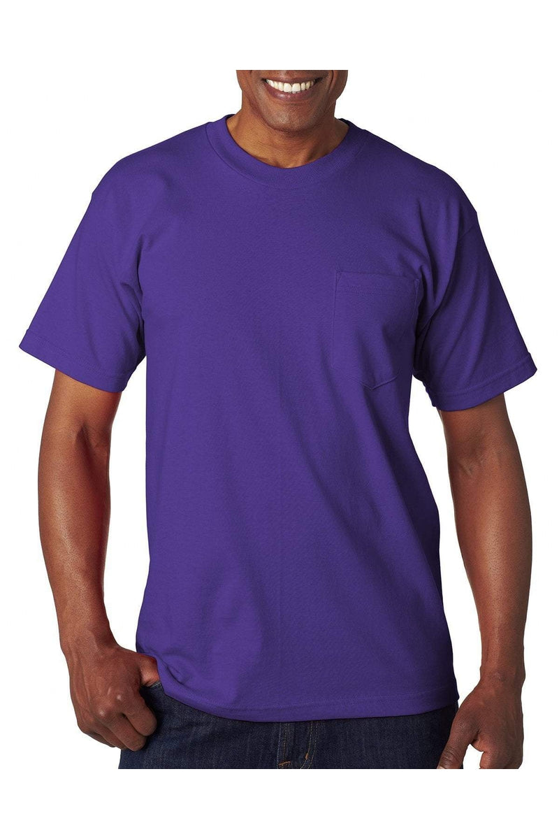 Bayside BA7100: Adult 6.1 oz., 100% Cotton Pocket T-Shirt, Basic Colors-T-Shirts-Bulkthreads.com, Wholesale T-Shirts and Tanks