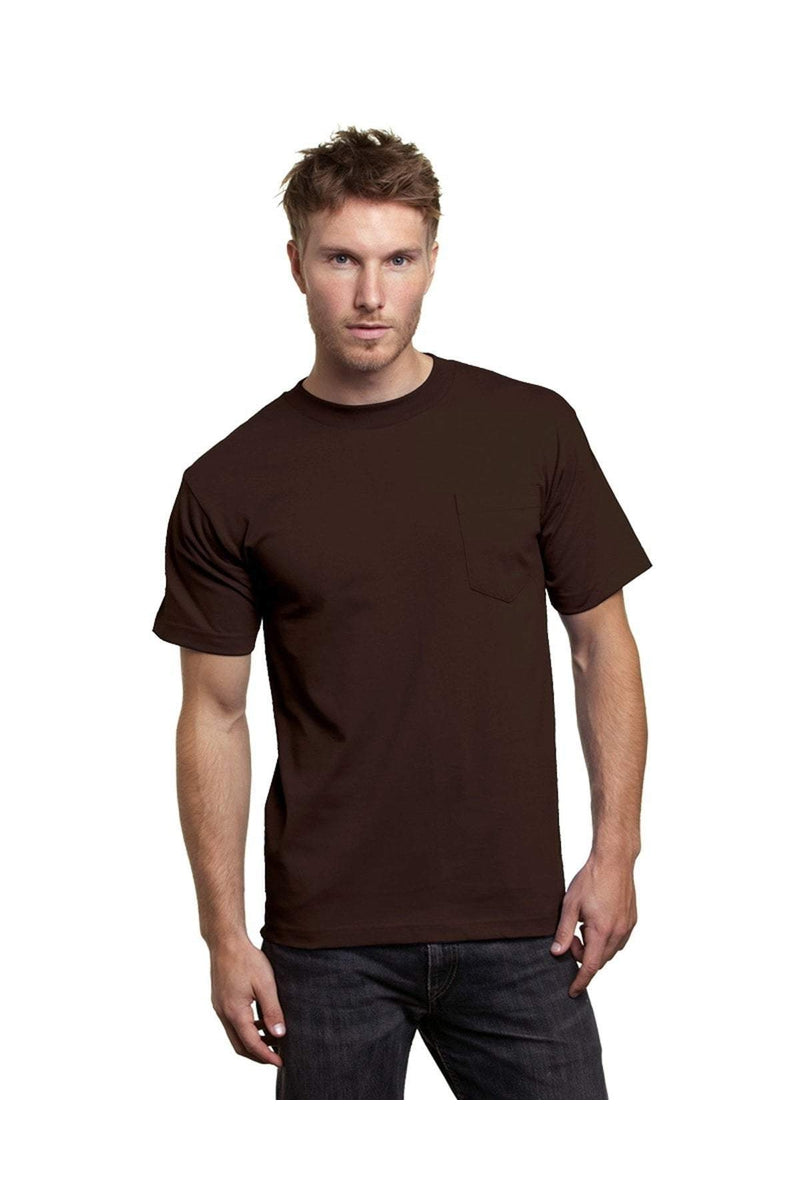 Bayside BA7100: Adult 6.1 oz., 100% Cotton Pocket T-Shirt-T-Shirts-Bulkthreads.com, Wholesale T-Shirts and Tanks