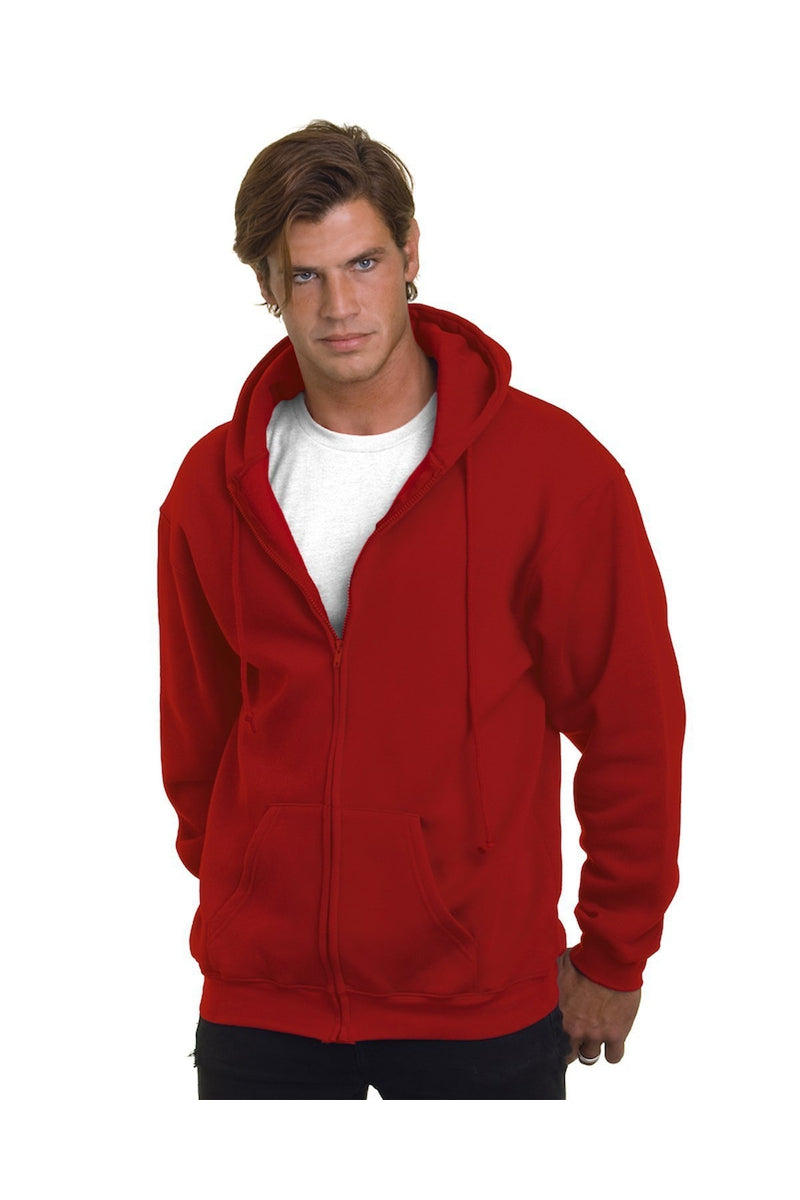 Bayside BA900: Adult 9.5oz., 80% cotton/20% polyester Full-Zip Hooded Sweatshirt-Sweatshirts-Bulkthreads.com, Wholesale T-Shirts and Tanks