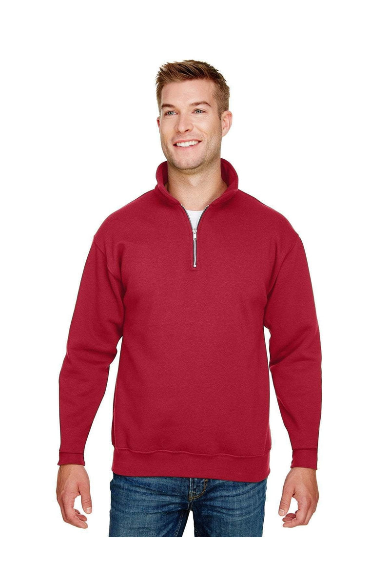 Bayside BA920: Unisex 9.5 oz., 80/20 Quarter-Zip Pullover Hooded Sweatshirt-Sweatshirts-Bulkthreads.com, Wholesale T-Shirts and Tanks