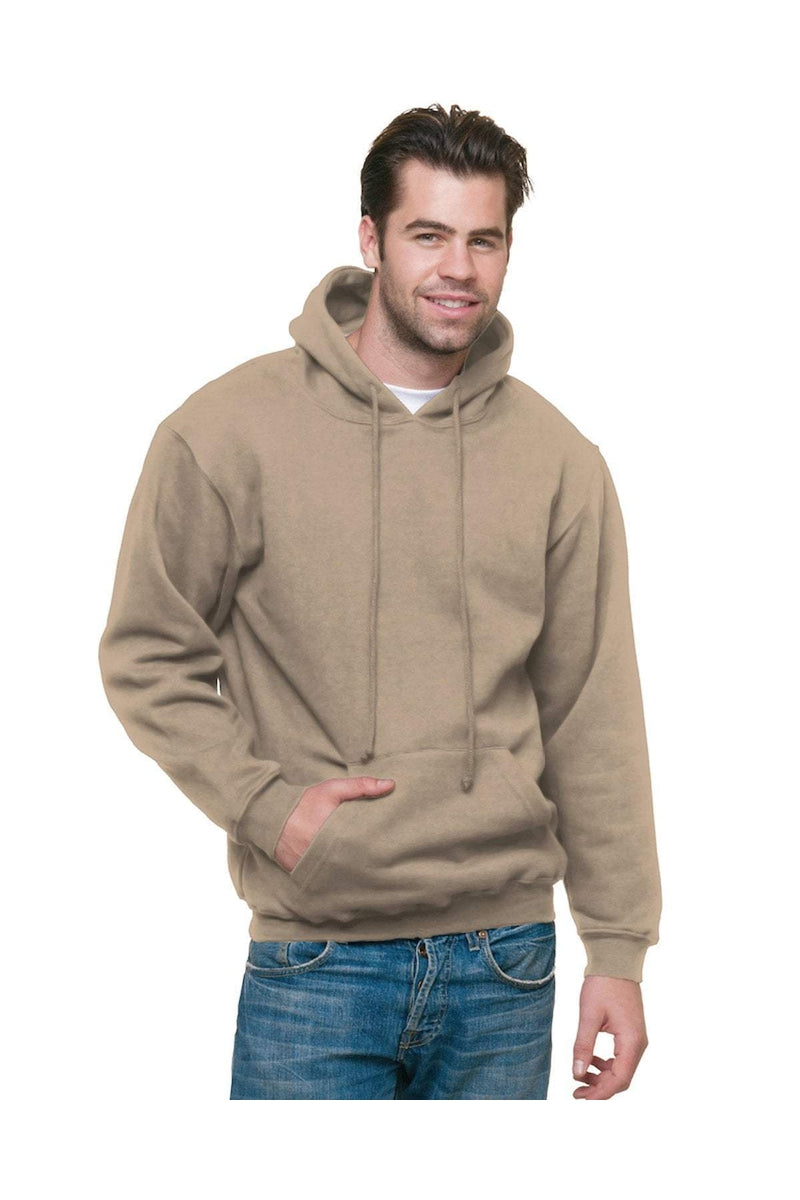 Bayside BA960: Adult 9.5 oz., 80/20 Pullover Hooded Sweatshirt, Basic Colors-Sweatshirts-Bulkthreads.com, Wholesale T-Shirts and Tanks