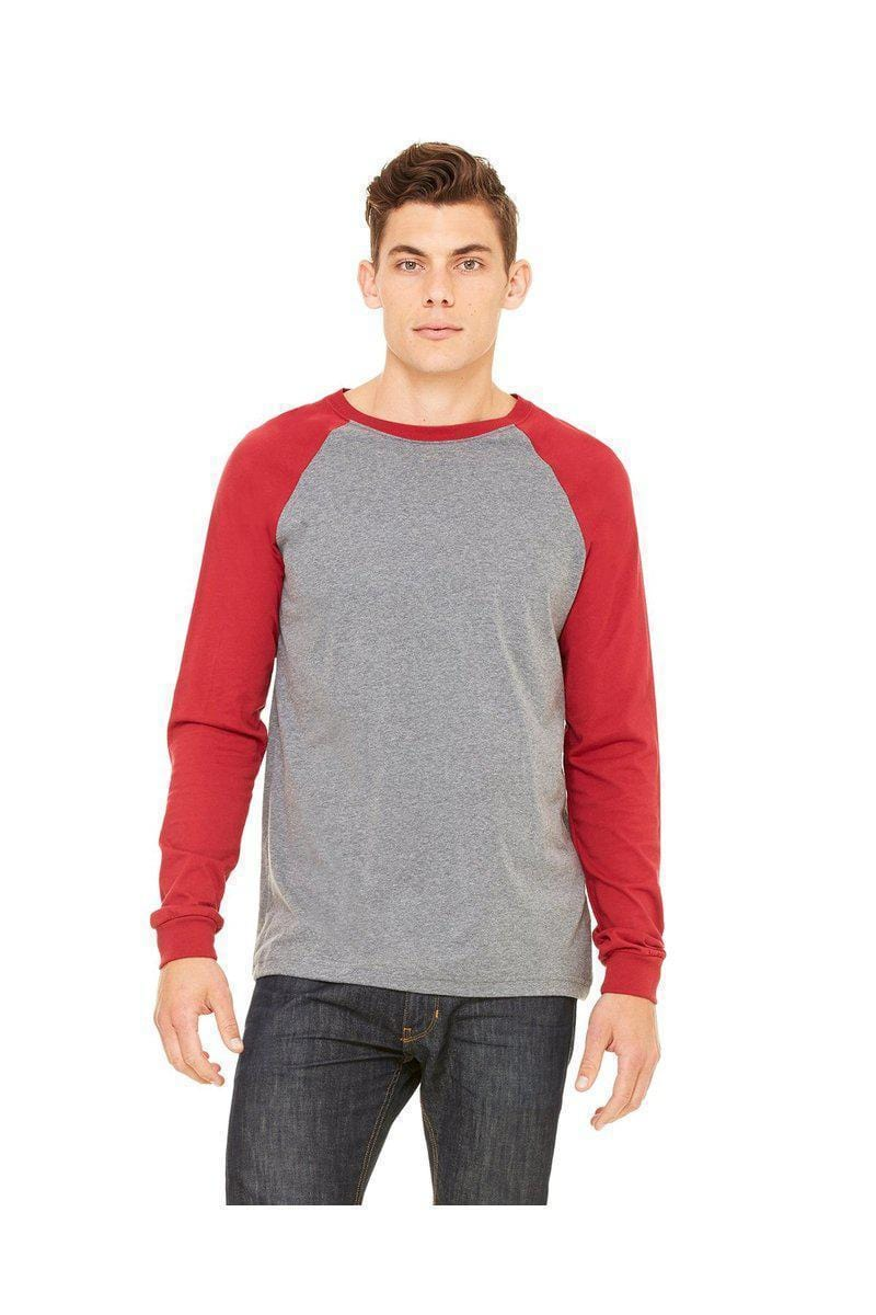 Bella + Canvas 3000C: Men's Long Sleeve Baseball T- Shirt-Raglan-Bulkthreads.com, Wholesale T-Shirts and Tanks