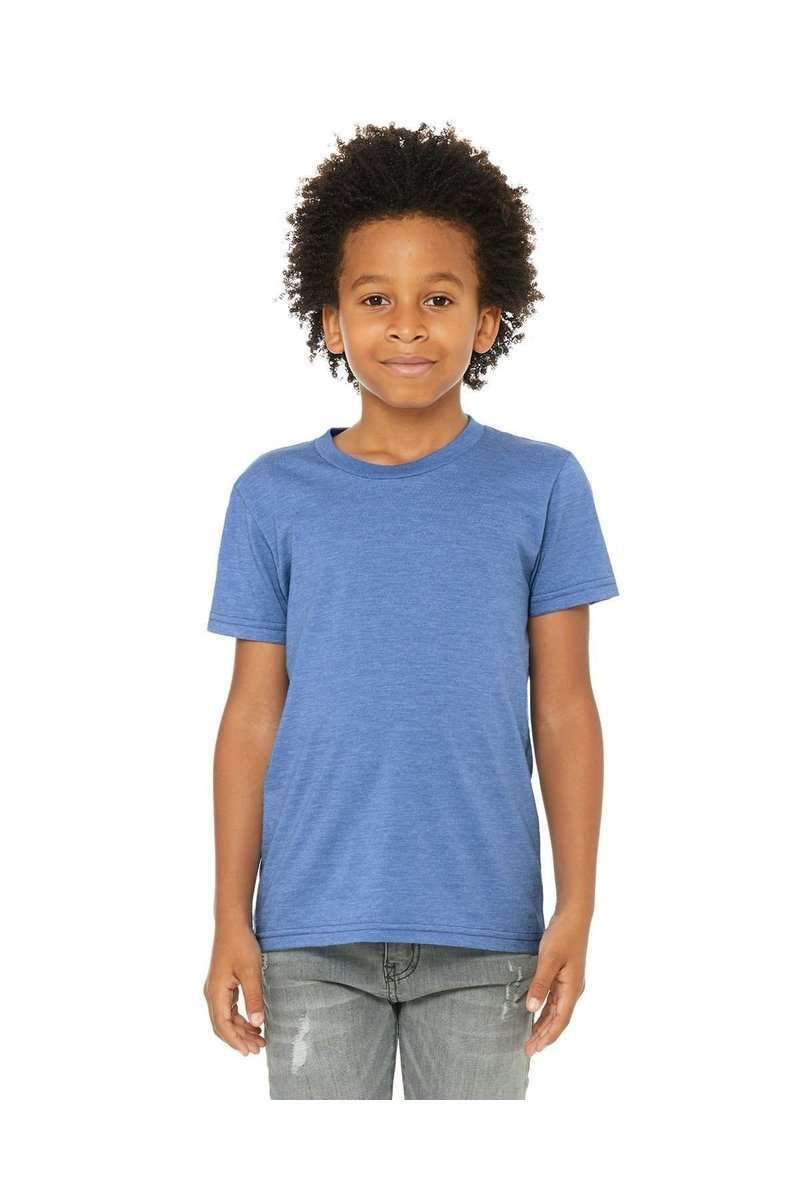 Bella + Canvas 3001Y: Kids Unisex Jersey Short Sleeve-Kid's T-shirts-Bella+Canvas-S-Heather Columbia Blue-wholesale t shirts -Bulkthreads.com