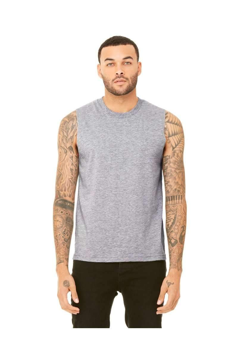 Bella Canvas 3483: Unisex Jersey Muscle Tank-Men's Tank Tops-Bulkthreads.com, Wholesale T-Shirts and Tanks