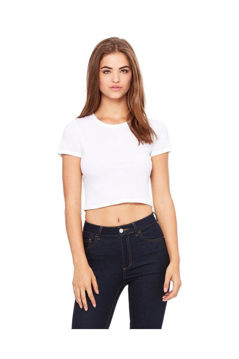 Bella + Canvas 6681: Ladies Cotton/Poly Crop Top T Shirt-Ladies T-Shirt-Bulkthreads.com, Wholesale T-Shirts and Tanks