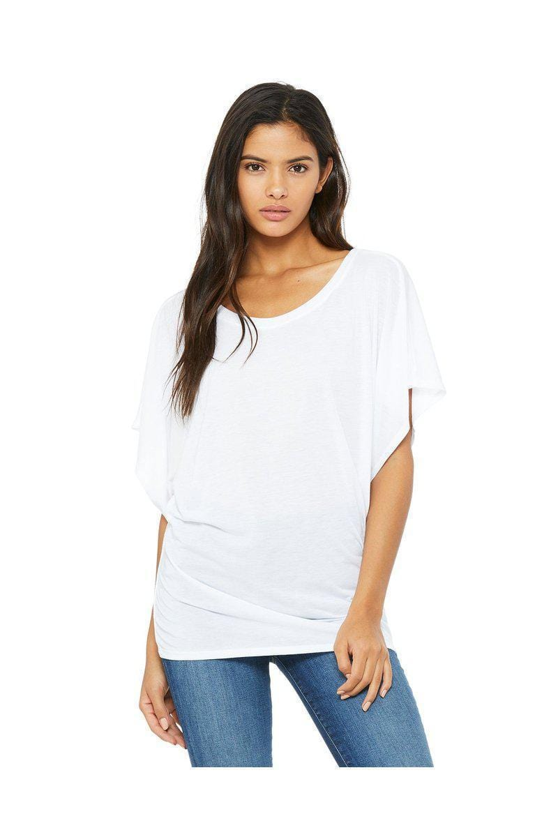 Bella + Canvas 8821: Ladies Flowy Draped Dolman T-Shirt-Ladies T-Shirt-Bulkthreads.com, Wholesale T-Shirts and Tanks