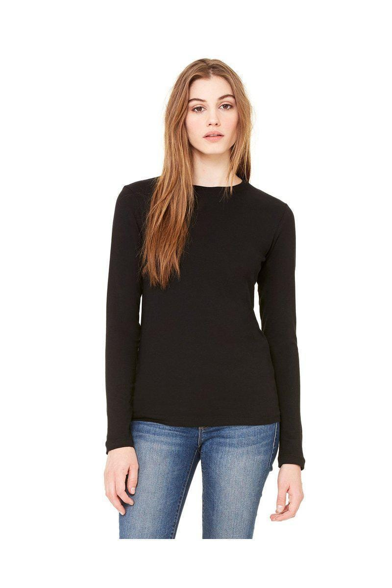Bella + Canvas B6500: Ladies' Jersey Long Sleeve T-Shirt-Ladies T-Shirt-Bulkthreads.com, Wholesale T-Shirts and Tanks