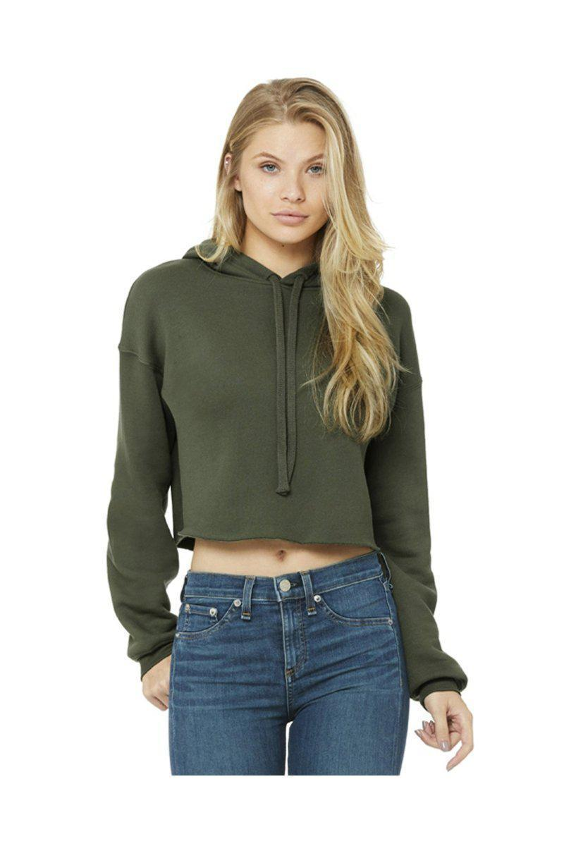 Bella + Canvas B7502: Ladies Cropped Fleece Hoodie-Ladies T-Shirt-Bulkthreads.com, Wholesale T-Shirts and Tanks