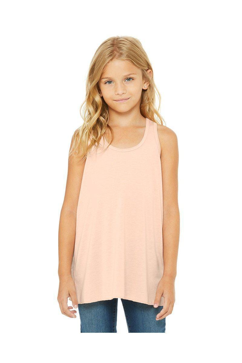 Bella + Canvas B8800Y: Youth Girls Flowy Racerback Tank-Kid's T-shirts-Bulkthreads.com, Wholesale T-Shirts and Tanks