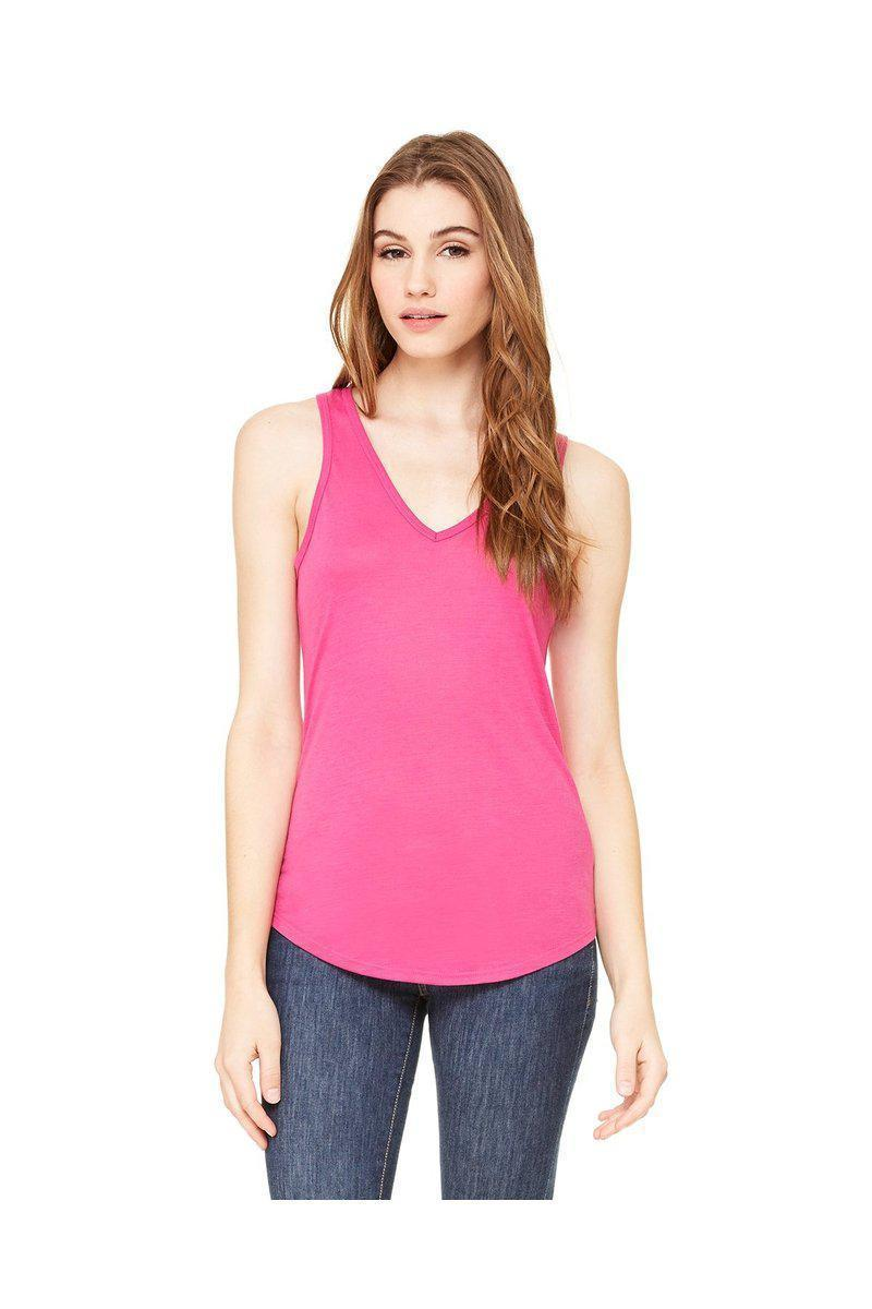 Bella + Canvas B8805: Ladies' Flowy V-Neck Tank-Ladies T-Shirt-Bulkthreads.com, Wholesale T-Shirts and Tanks