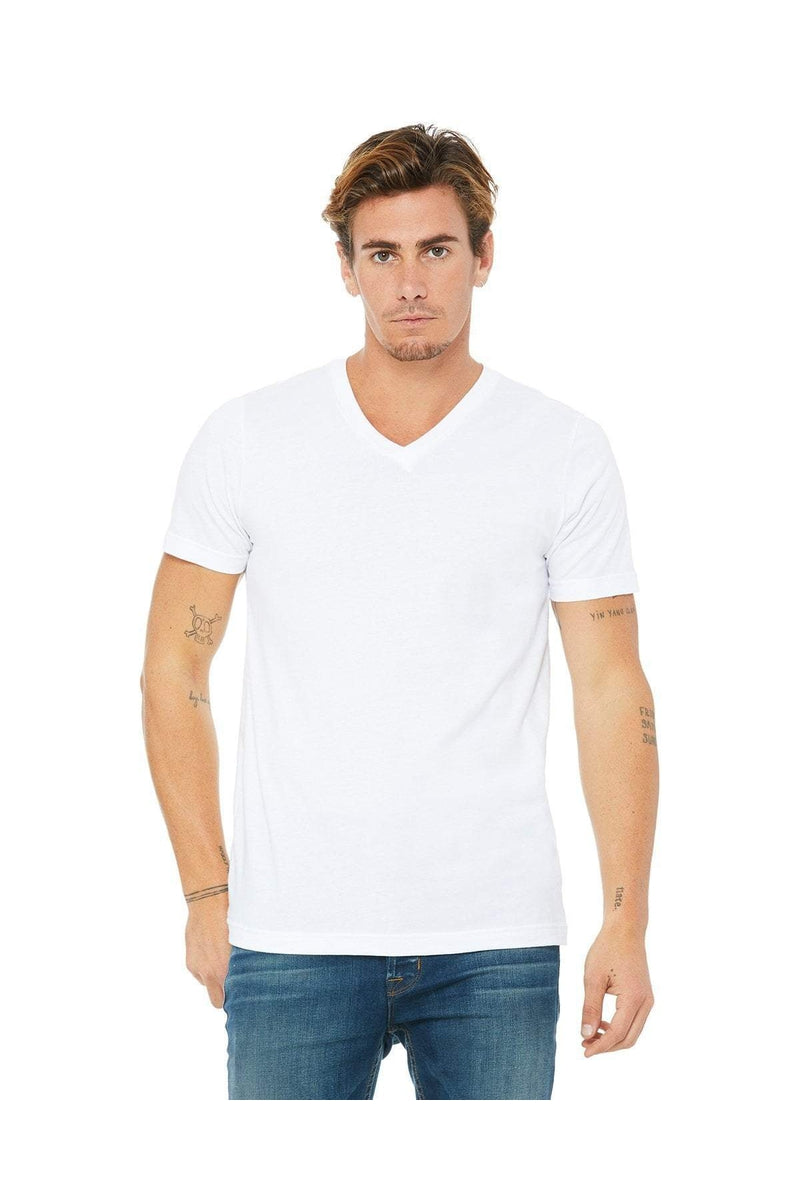 Bella+Canvas 3005: Unisex Jersey Short-Sleeve V-Neck T-Shirt, Basic Colors-T-Shirts-Bulkthreads.com, Wholesale T-Shirts and Tanks