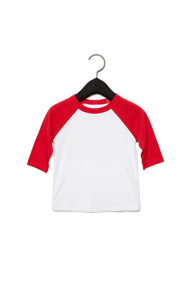 Bella+Canvas 3200T: Toddler 3/4-Sleeve Baseball T-Shirt-Infants | Toddlers-Bulkthreads.com, Wholesale T-Shirts and Tanks
