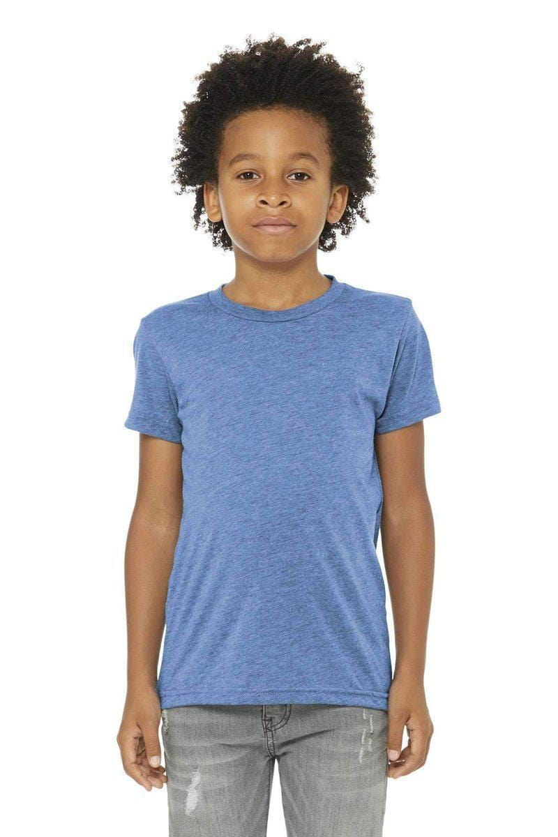 Bella+Canvas 3413Y: Youth Triblend Short Sleeve Tee-Youth T-Shirts-Bulkthreads.com, Wholesale T-Shirts and Tanks