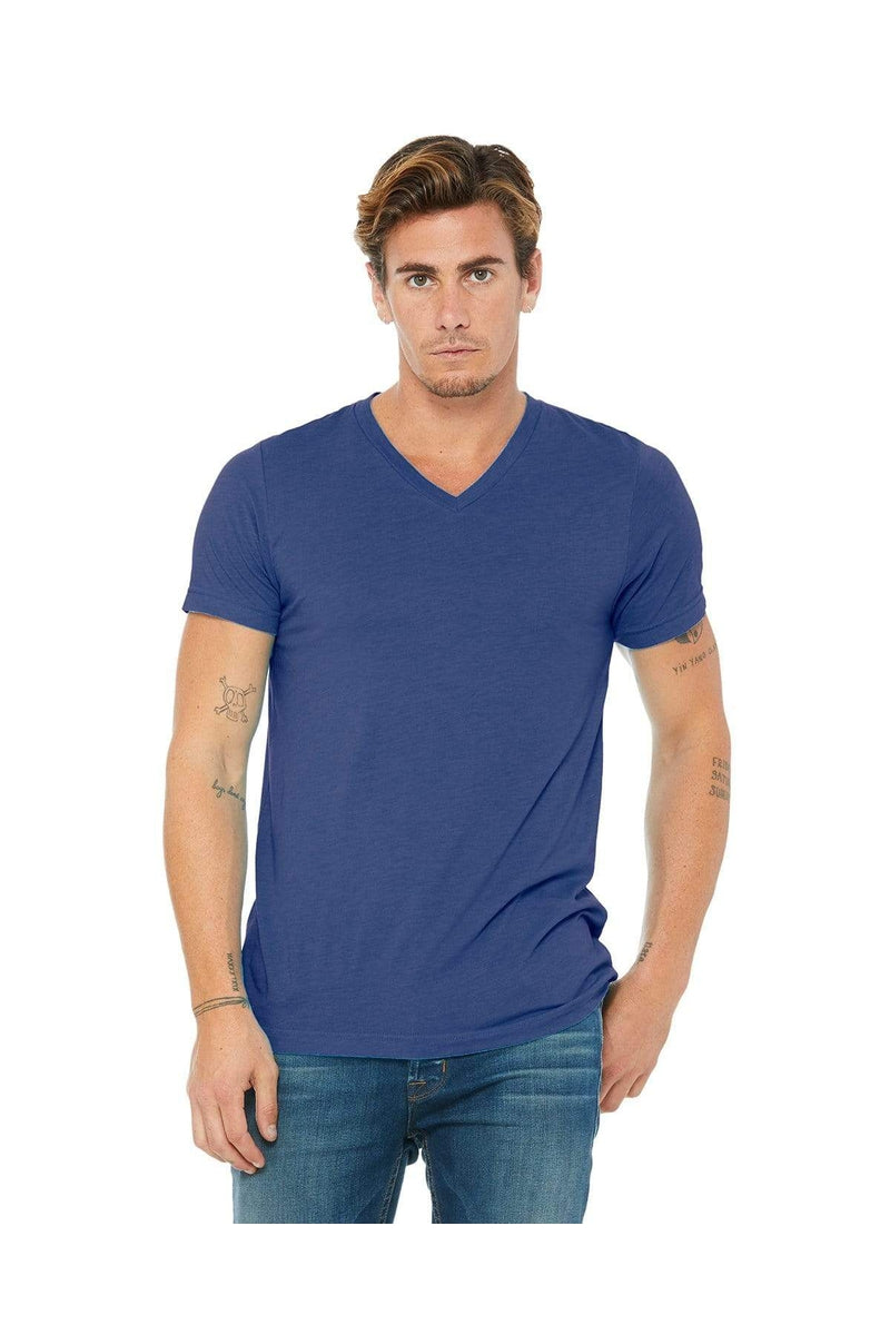 Bella+Canvas 3415C: Unisex Triblend Short-Sleeve V-Neck T-Shirt, Basic Colors-T-Shirts-Bulkthreads.com, Wholesale T-Shirts and Tanks