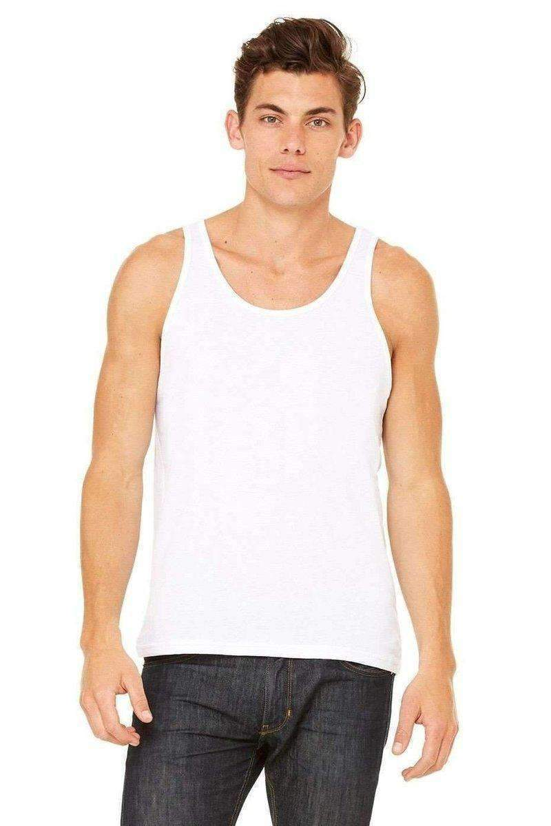 Bella+Canvas 3480: Unisex Jersey Tank Top-Men's Tank Tops-Bella+Canvas-XS-White-wholesale t shirts -Bulkthreads.com