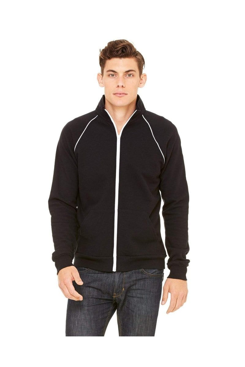 Bella+Canvas 3710: Men's Piped Fleece Jacket-Sweatshirts-Bulkthreads.com, Wholesale T-Shirts and Tanks