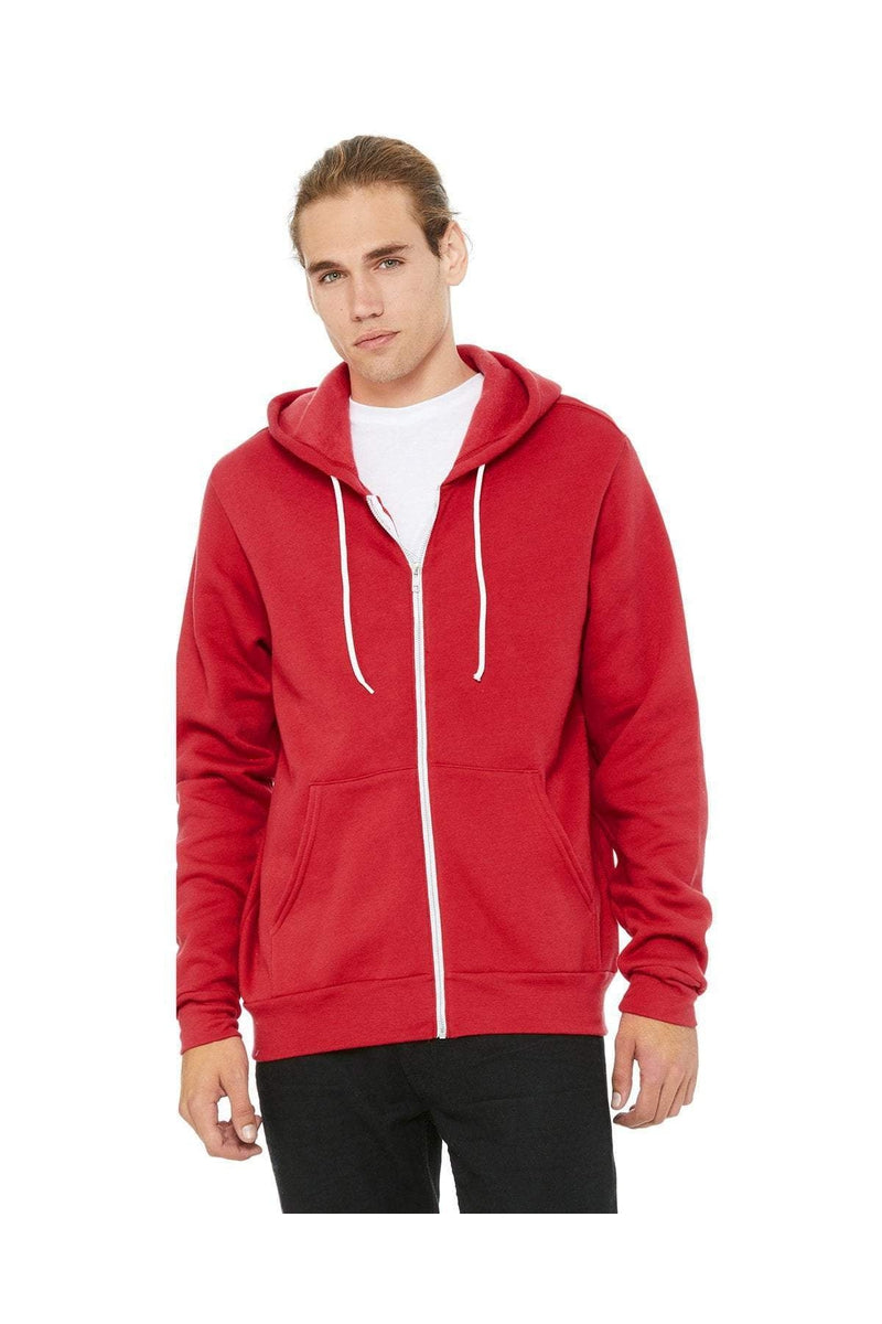 Bella Canvas Unisex Polycotton Fleece Full Zip Hoodie 3739