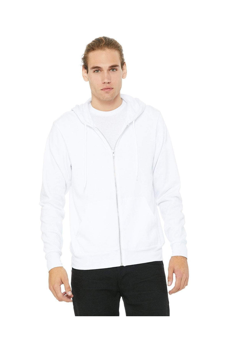 Bella+Canvas 3739: Unisex Poly-Cotton Fleece Full-Zip Hoodies-Sweatshirts-Bulkthreads.com, Wholesale T-Shirts and Tanks