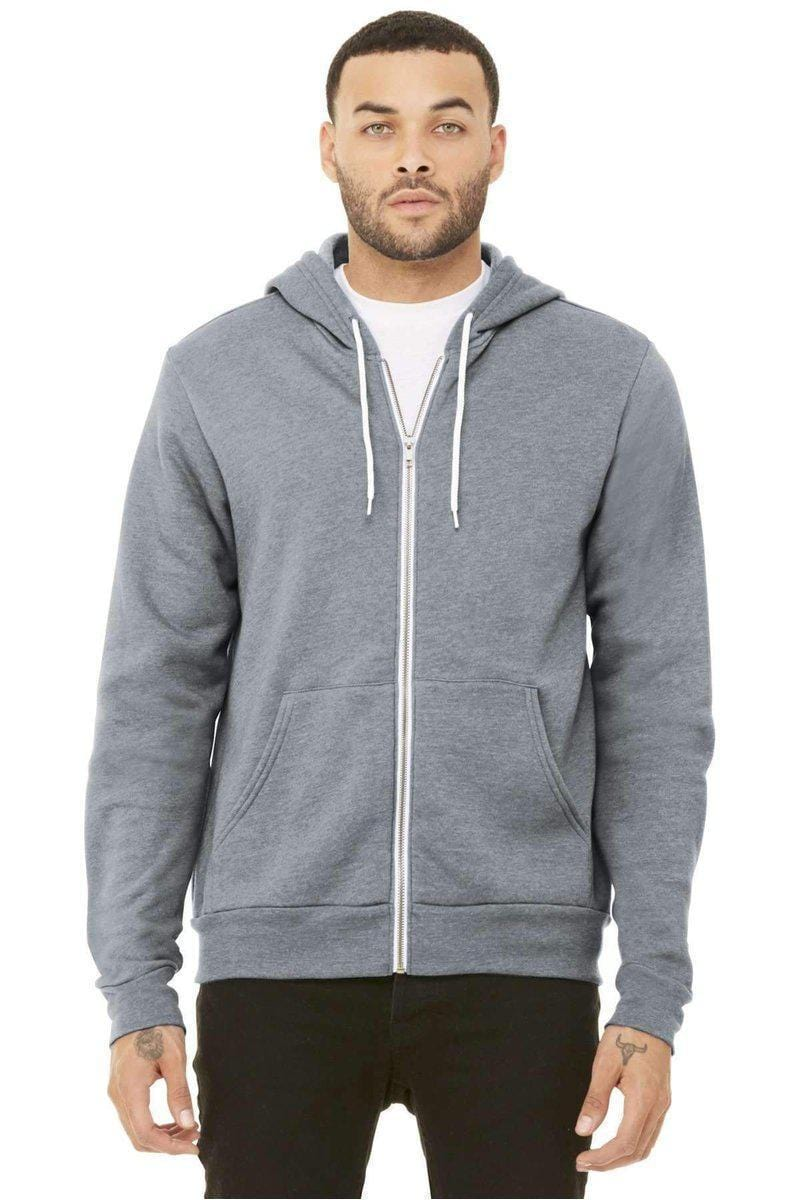 Bella+Canvas 3739: Unisex Sponge Fleece Full-Zip Hoodie-Sweatshirts/Fleece-Bulkthreads.com, Wholesale T-Shirts and Tanks