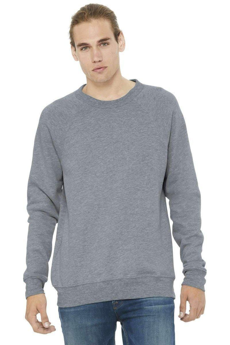 Bella+Canvas 3901: Unisex Sponge Fleece Raglan Sweatshirt-Sweatshirts/Fleece-Bulkthreads.com, Wholesale T-Shirts and Tanks