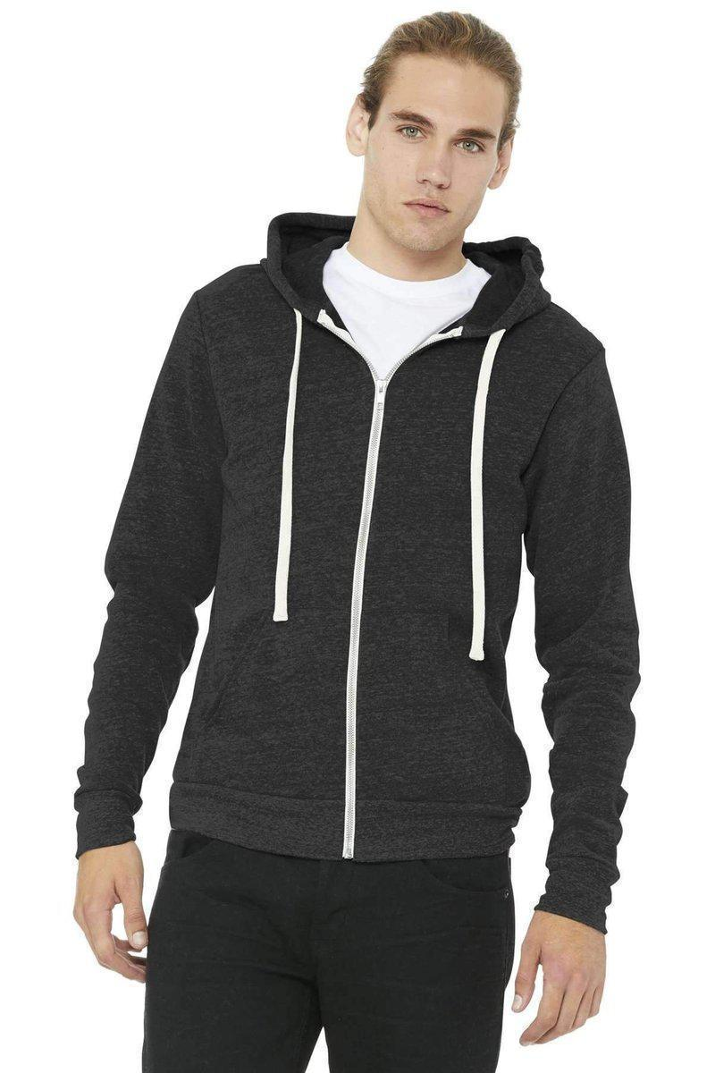 Bella+Canvas 3909: Unisex Triblend Sponge Fleece Full-Zip Hoodie-Sweatshirts/Fleece-Bulkthreads.com, Wholesale T-Shirts and Tanks