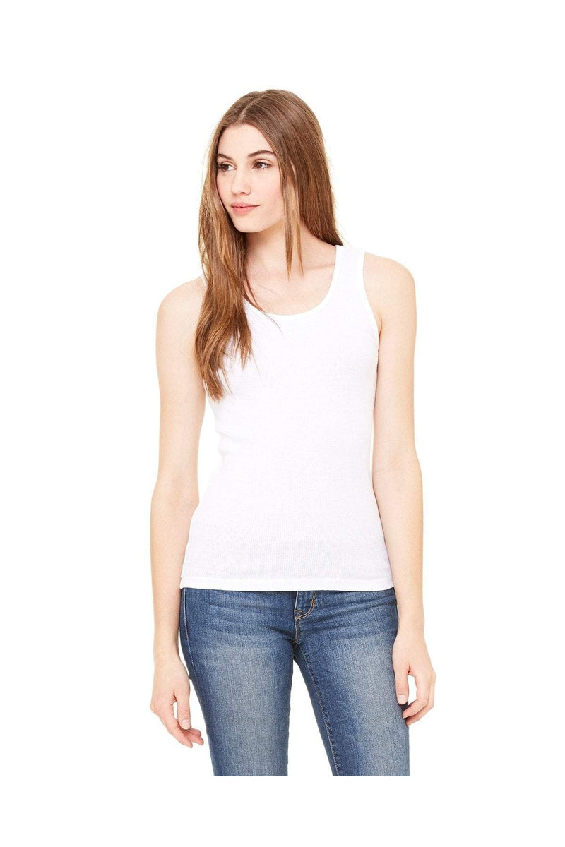 Bella+Canvas 4000: Ladies' 2x1 Rib Tank-T-Shirts-Bulkthreads.com, Wholesale T-Shirts and Tanks