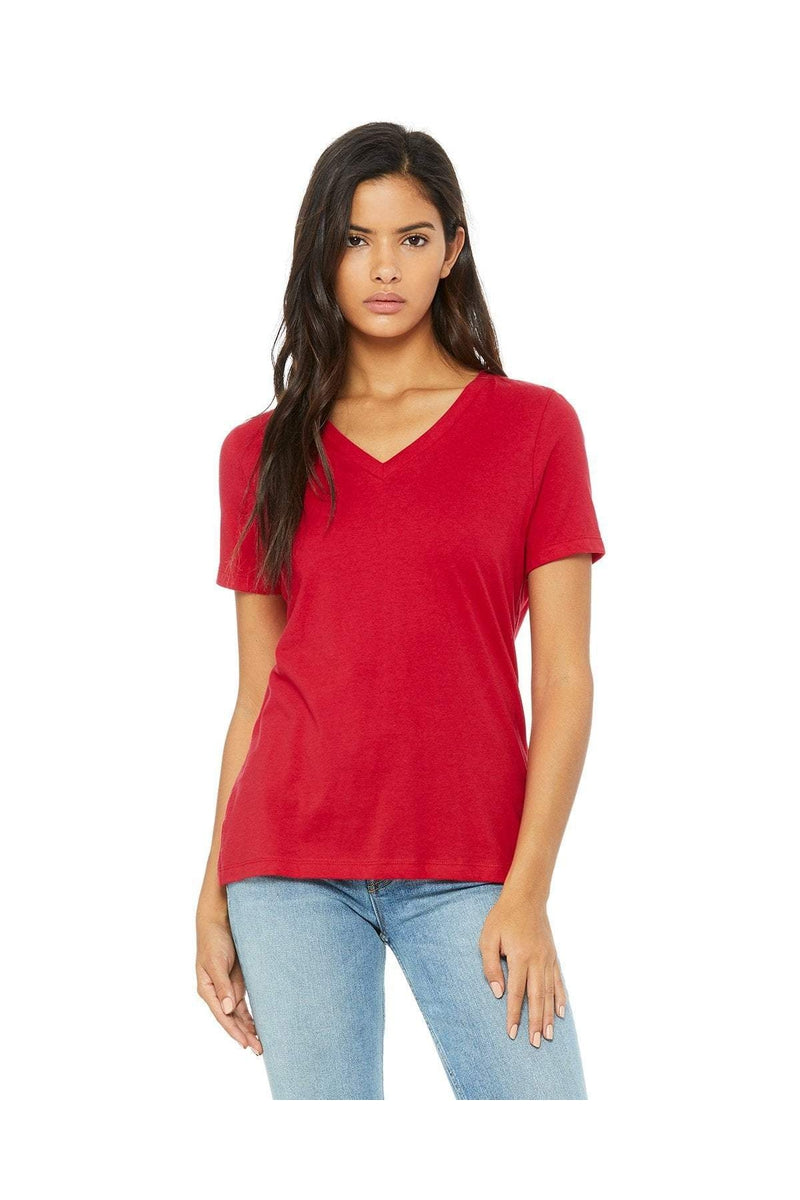 Bella+Canvas 6405: Ladies' Relaxed Jersey Short-Sleeve V-Neck T-Shirt, Basic Colors-T-Shirts-Bulkthreads.com, Wholesale T-Shirts and Tanks