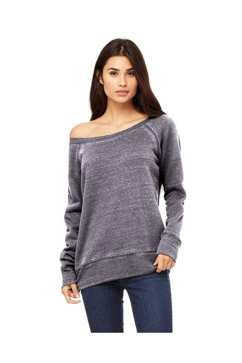 Bella+Canvas 7501: Ladies' Sponge Fleece Wide Neck Sweatshirt, Basic Colors-Sweatshirts-Bulkthreads.com, Wholesale T-Shirts and Tanks