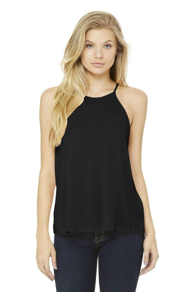 Bella+Canvas 8809: Women's Flowy High-Neck Tank-Women's Tank Top-Bulkthreads.com, Wholesale T-Shirts and Tanks
