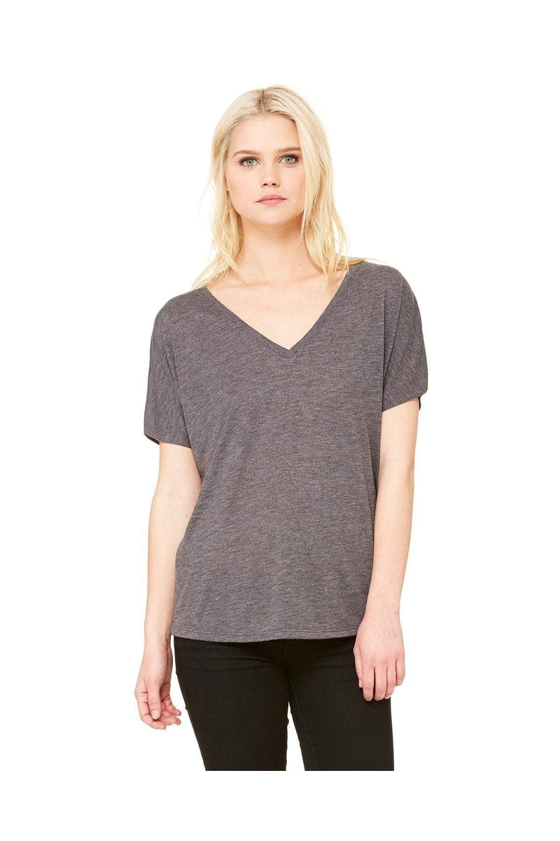 Bella+Canvas 8815: Ladies' Slouchy V-Neck T-Shirt, Basic Colors-T-Shirts-Bulkthreads.com, Wholesale T-Shirts and Tanks