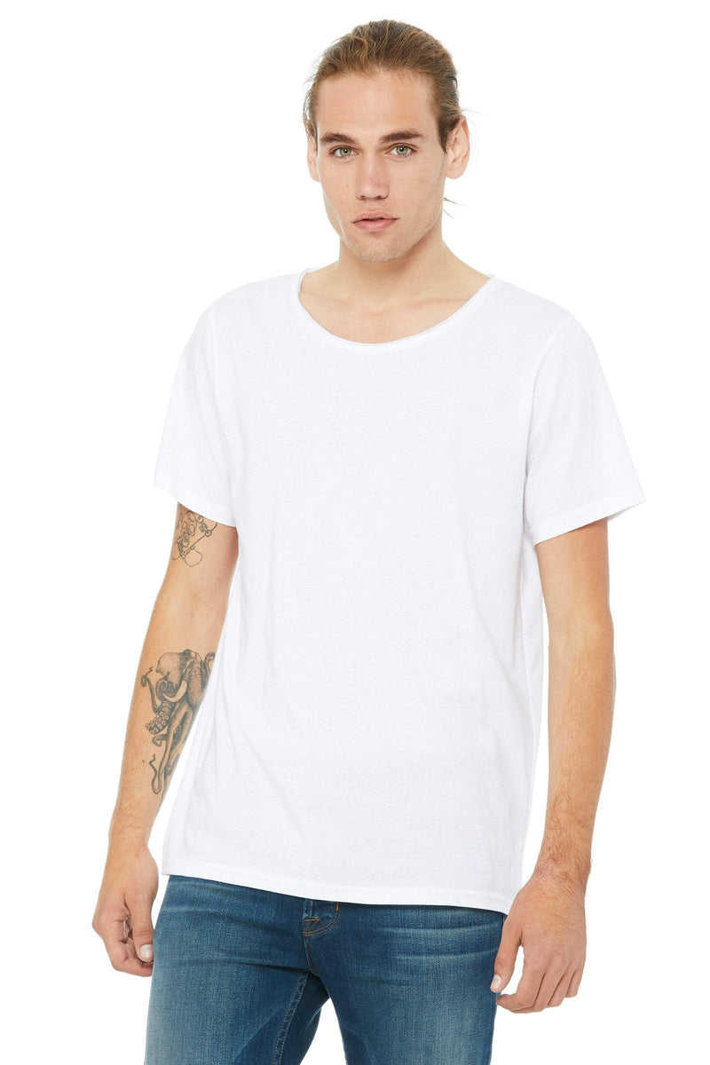 Bella+Canvas B3014: Men's Jersey Raw Neck T-Shirt-T-Shirts-Bulkthreads.com, Wholesale T-Shirts and Tanks