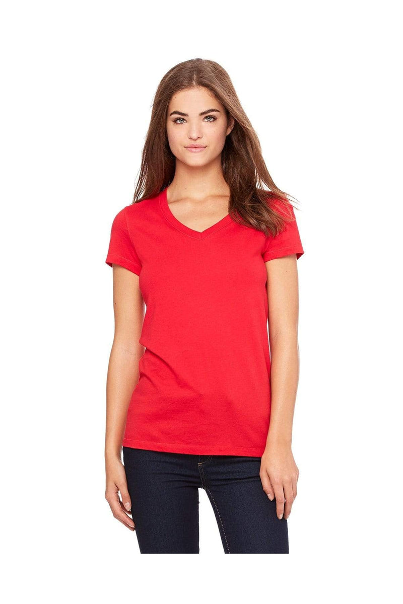 Bella+Canvas B6005: Ladies' Jersey Short-Sleeve V-Neck T-Shirt-T-Shirts-Bulkthreads.com, Wholesale T-Shirts and Tanks